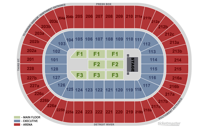 Joe Louis Arena, Detroit, MI: Tickets, Schedule, Seating Charts ...