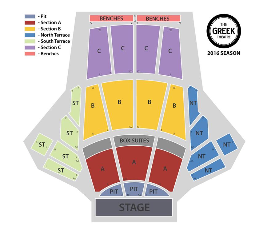 The greek theater seating chart nuruf comunicaasl com