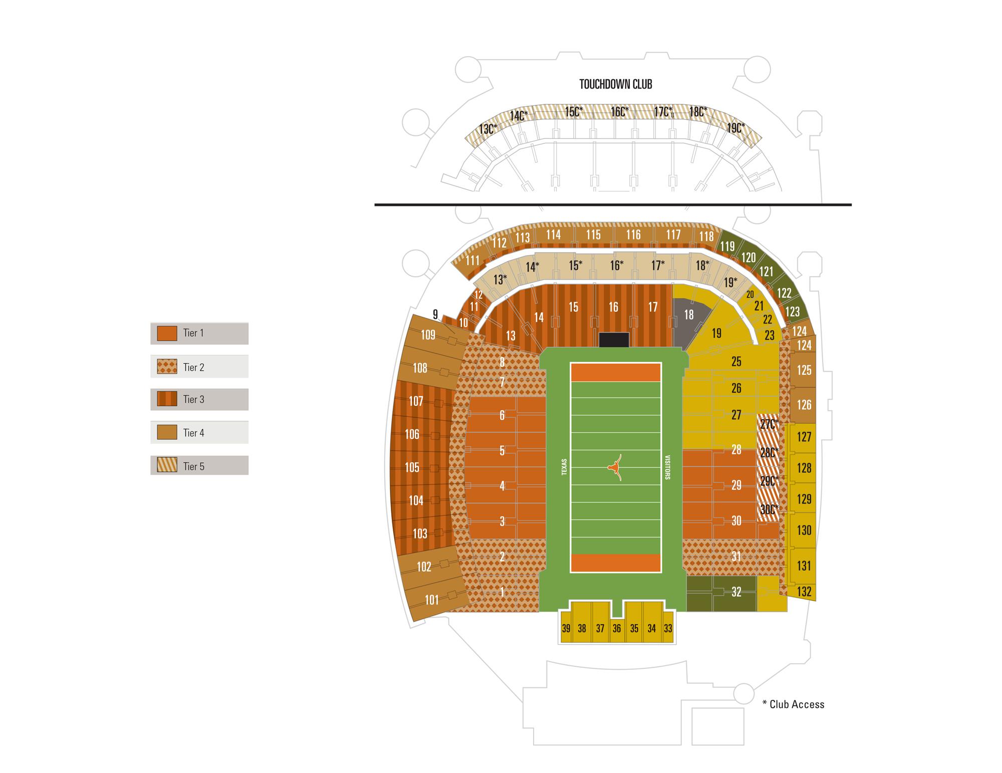 Darrell k royal texas memorial stadium austin tickets schedule