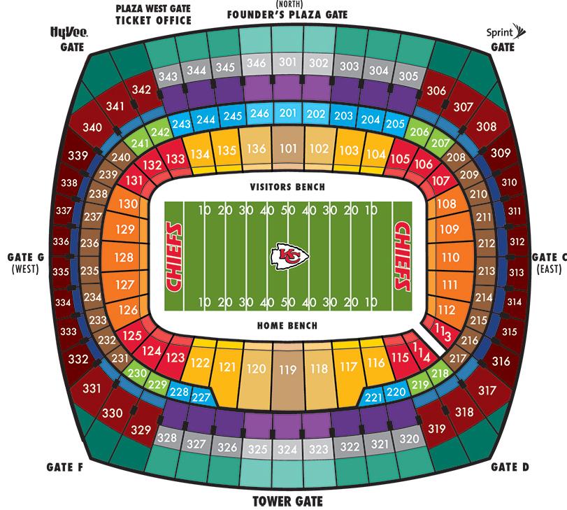 Arrowhead stadium kansas city tickets schedule seating charts