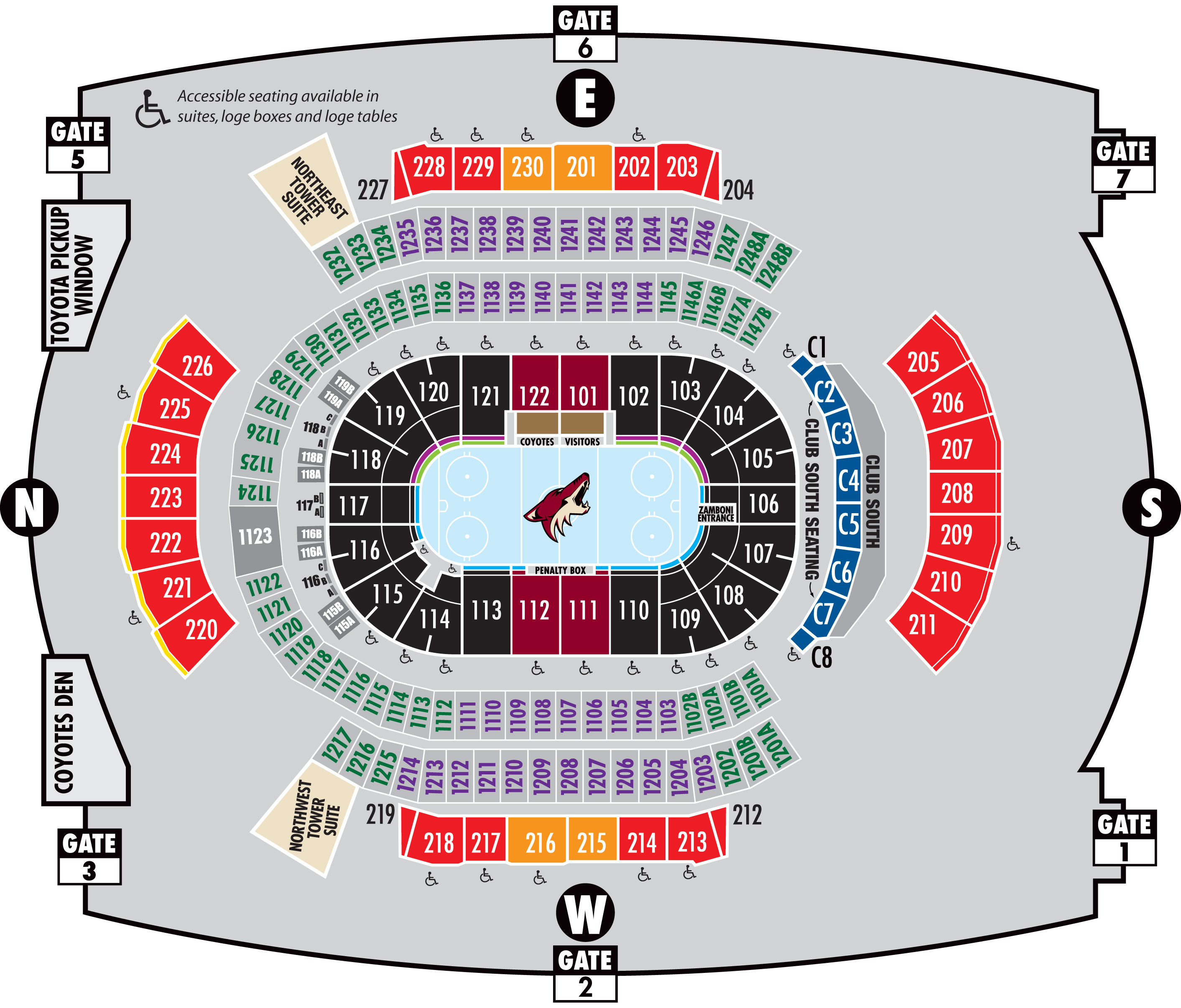 gila river arena, glendale, az: tickets, schedule, seating charts