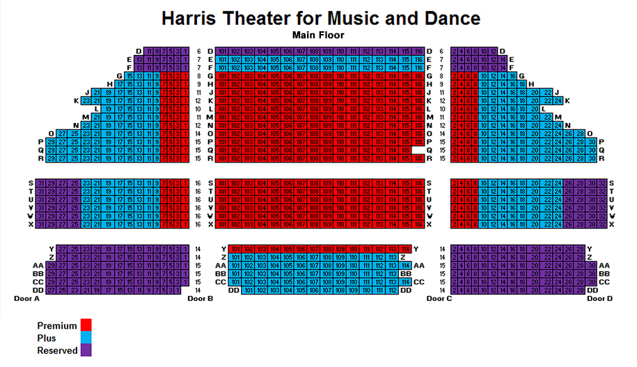Harris theater for music and dance in millennium park chicago