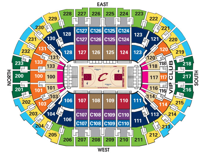 Quicken loans arena cleveland tickets schedule seating charts