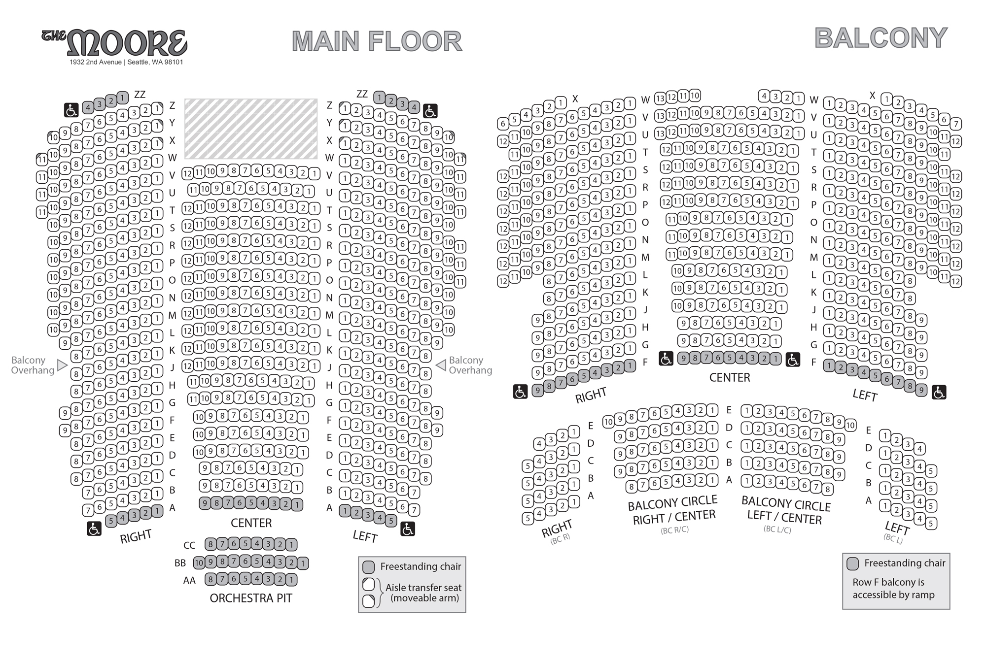 Moore theatre seattle tickets schedule seating charts goldstar