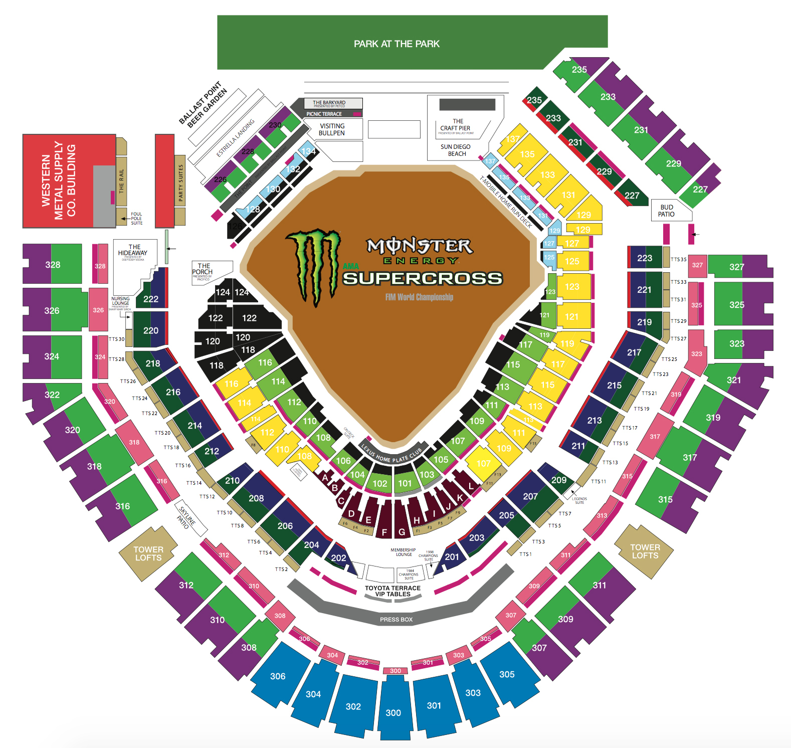 Petco park san diego tickets schedule seating charts goldstar