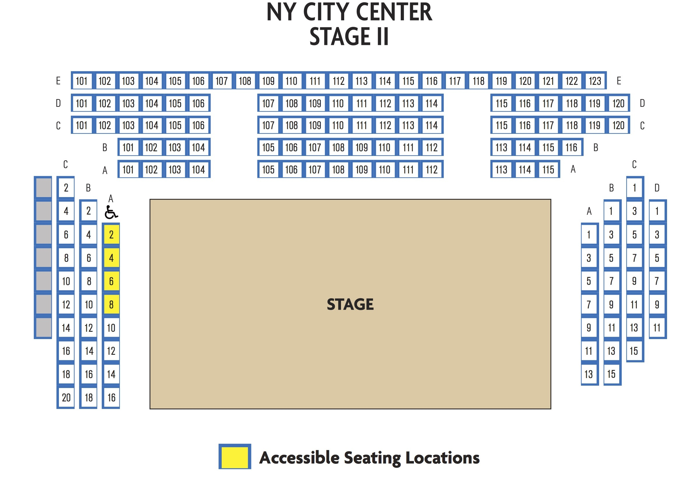 New york city center stage 2 new york tickets schedule seating