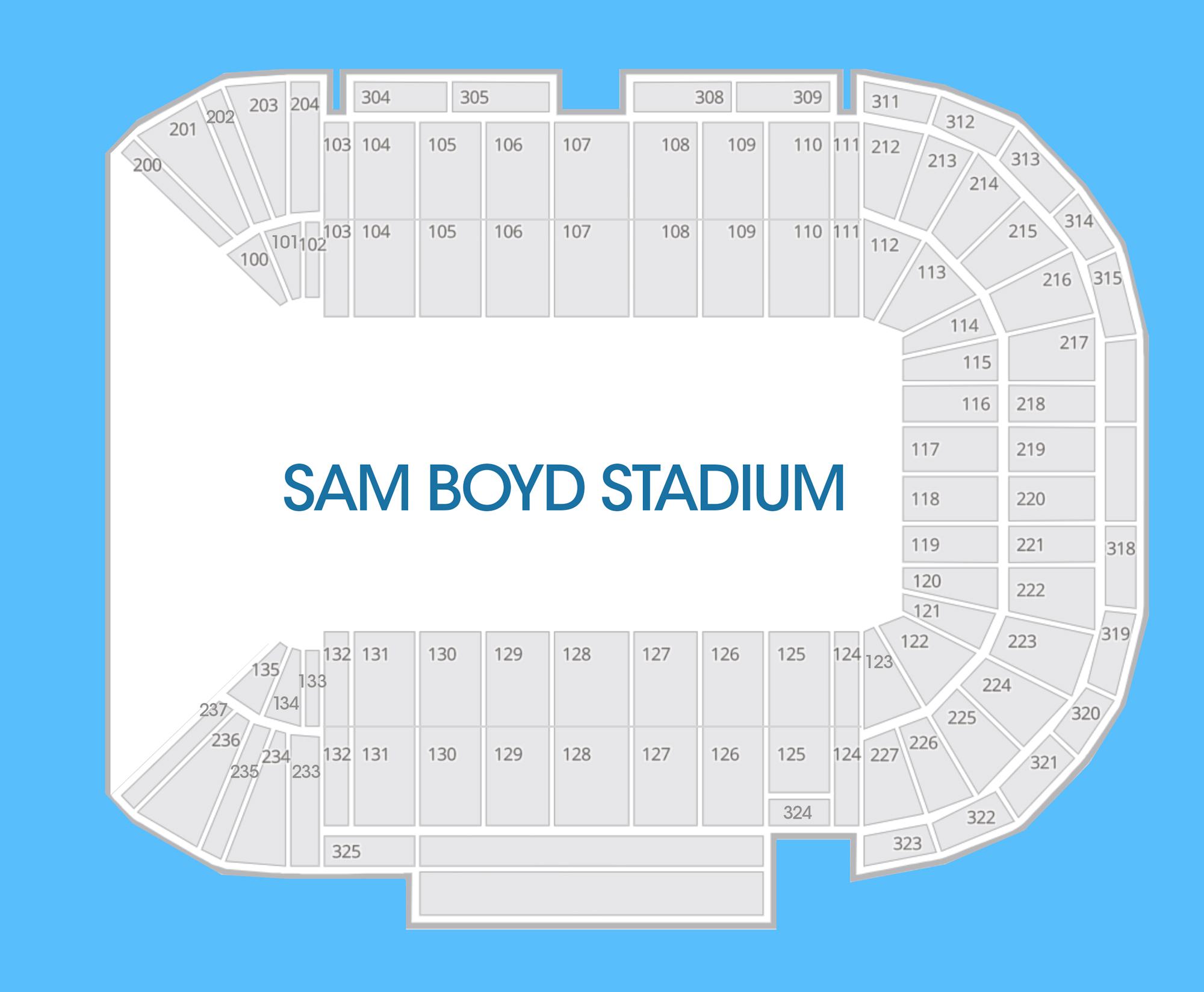 unlv interactive seating chart: Unlv interactive seating chart sam boyd stadium seating chart