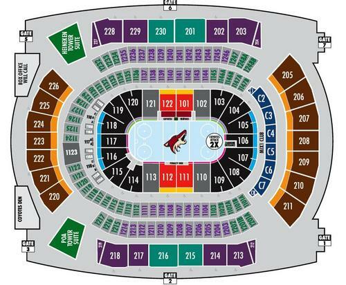 Gila river arena phoenix tickets schedule seating charts goldstar