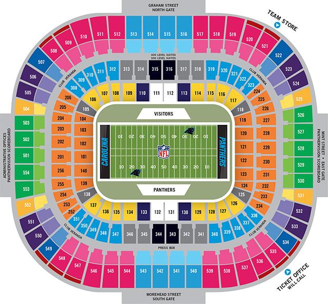 Charlotte stadium seating chart ancora store