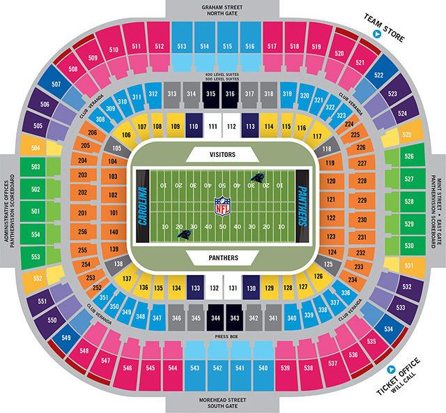 Bank of america stadium charlotte tickets schedule seating
