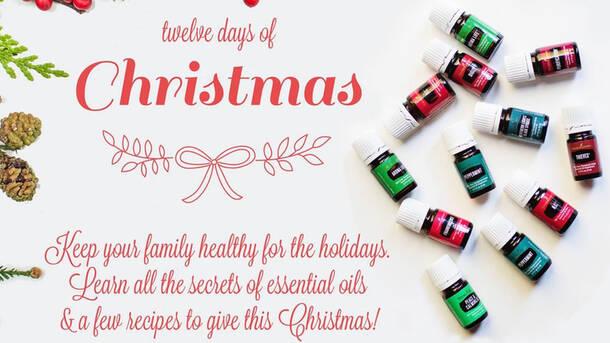 12 days of christmas with essential oils - Christmas Essential Oils