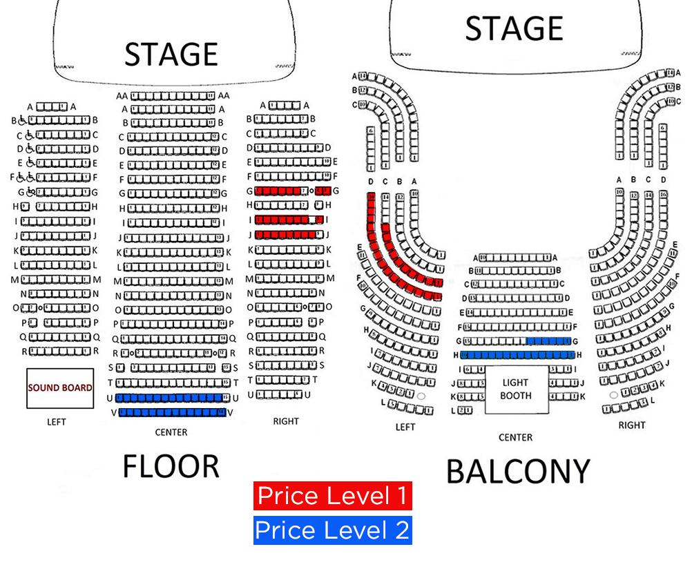 music hall seating chart