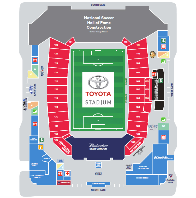 Toyota stadium dallas fort worth tickets schedule seating
