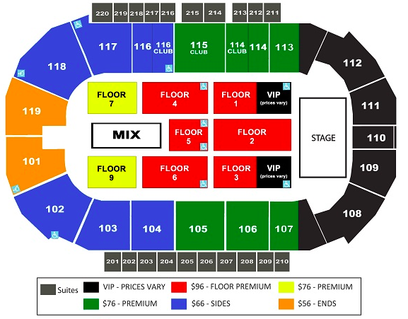 Accesso showare center seattle tickets schedule seating charts