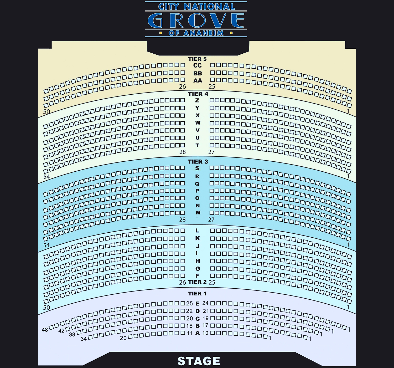 Rock Stars & Stripes Chart D seating city national grove of anaheim ann wilson of heart tickets