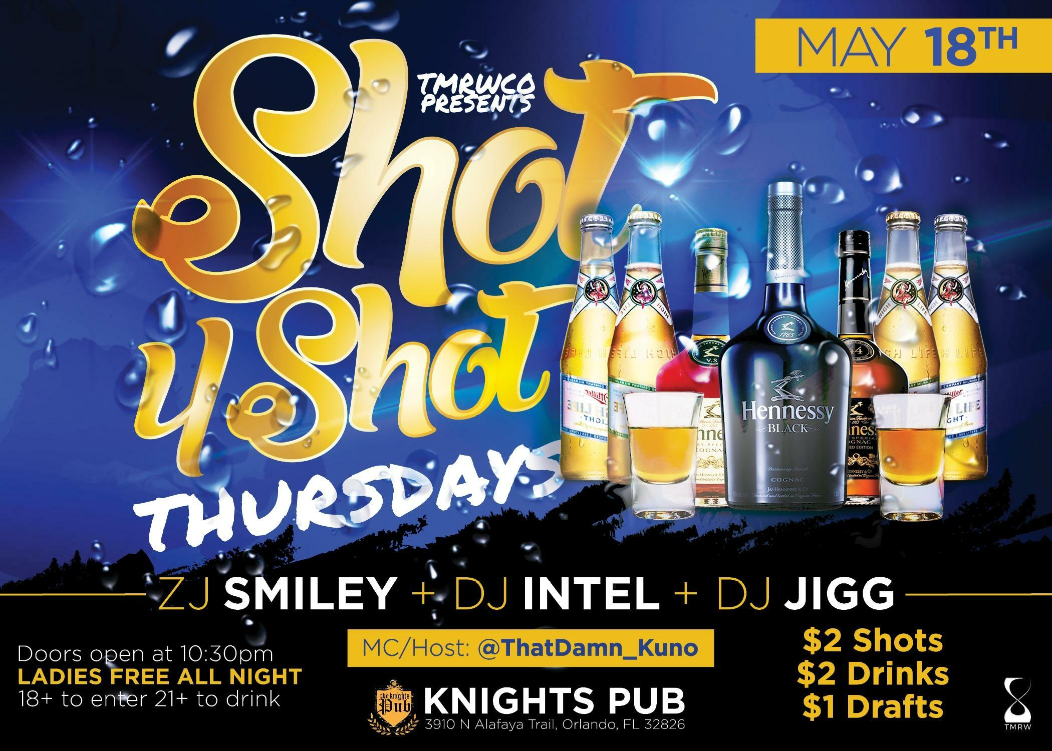 shot4shotthursdays orlando tickets n a at the knight u0027s pub 2017