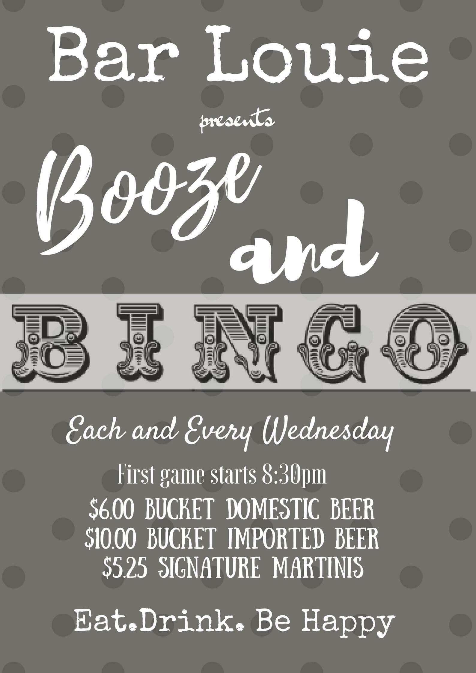 Booze and bingo tickets free at bar louie 2017 12 27 mozeypictures Choice Image