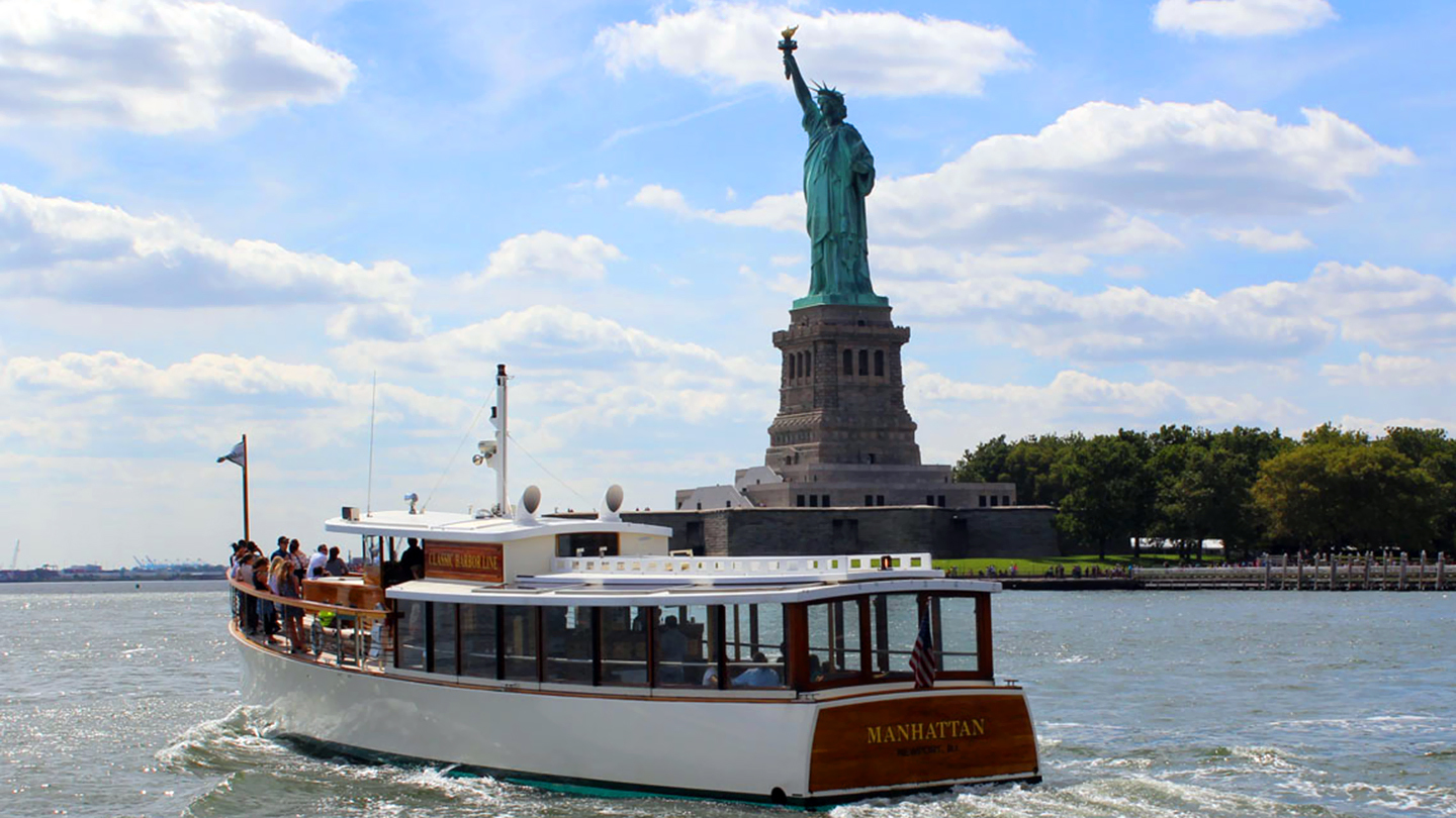 Come Face to Face With Lady Liberty Aboard the Yacht Manhattan