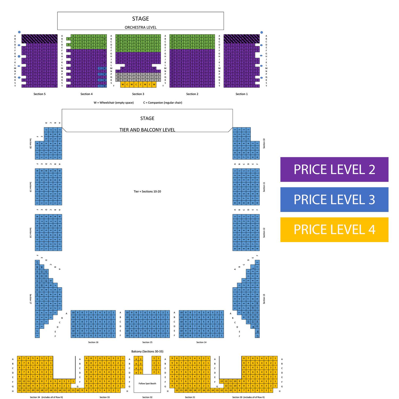 War Memorial Auditorium Seating Chart