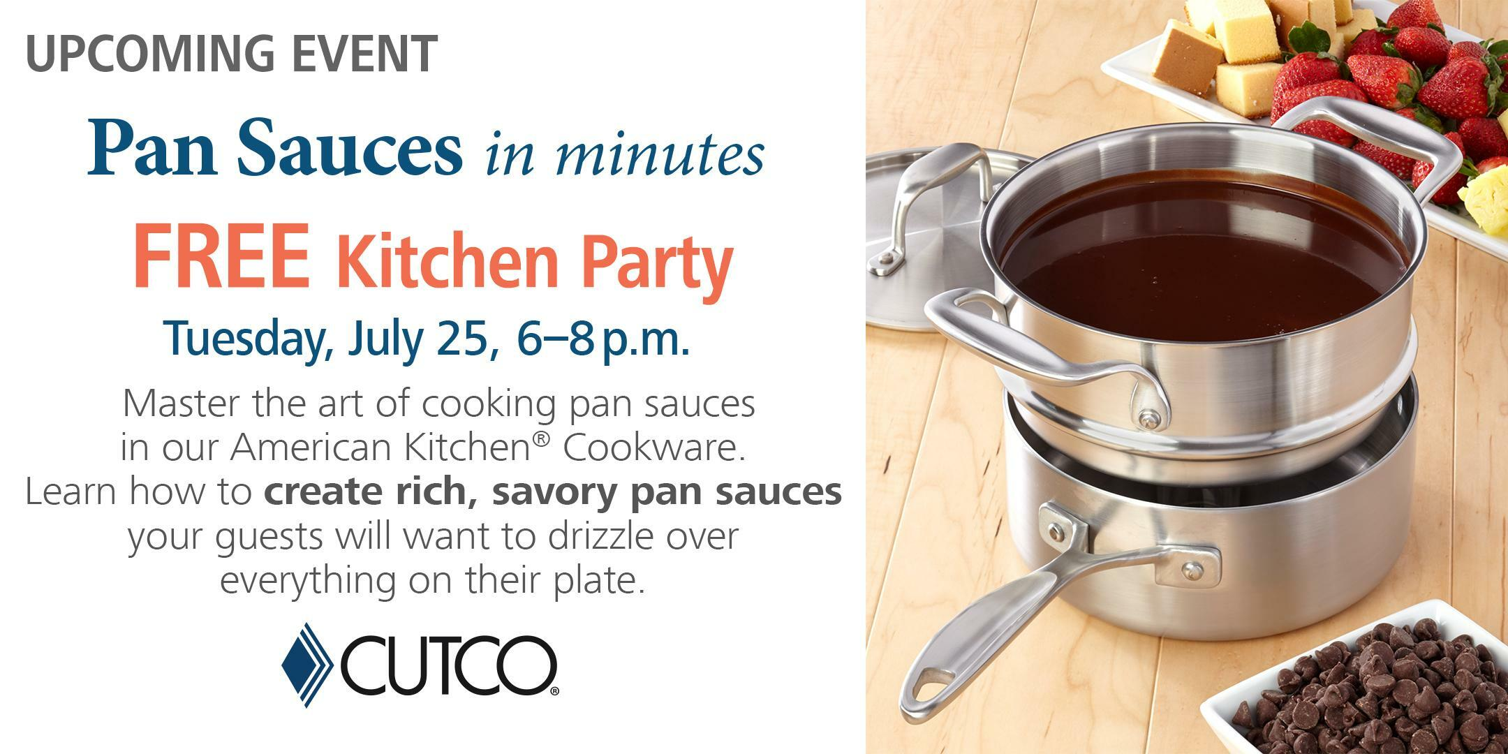 Free Cooking Class: Pan Sauces Philadelphia Tickets - n/a at CUTCO ...