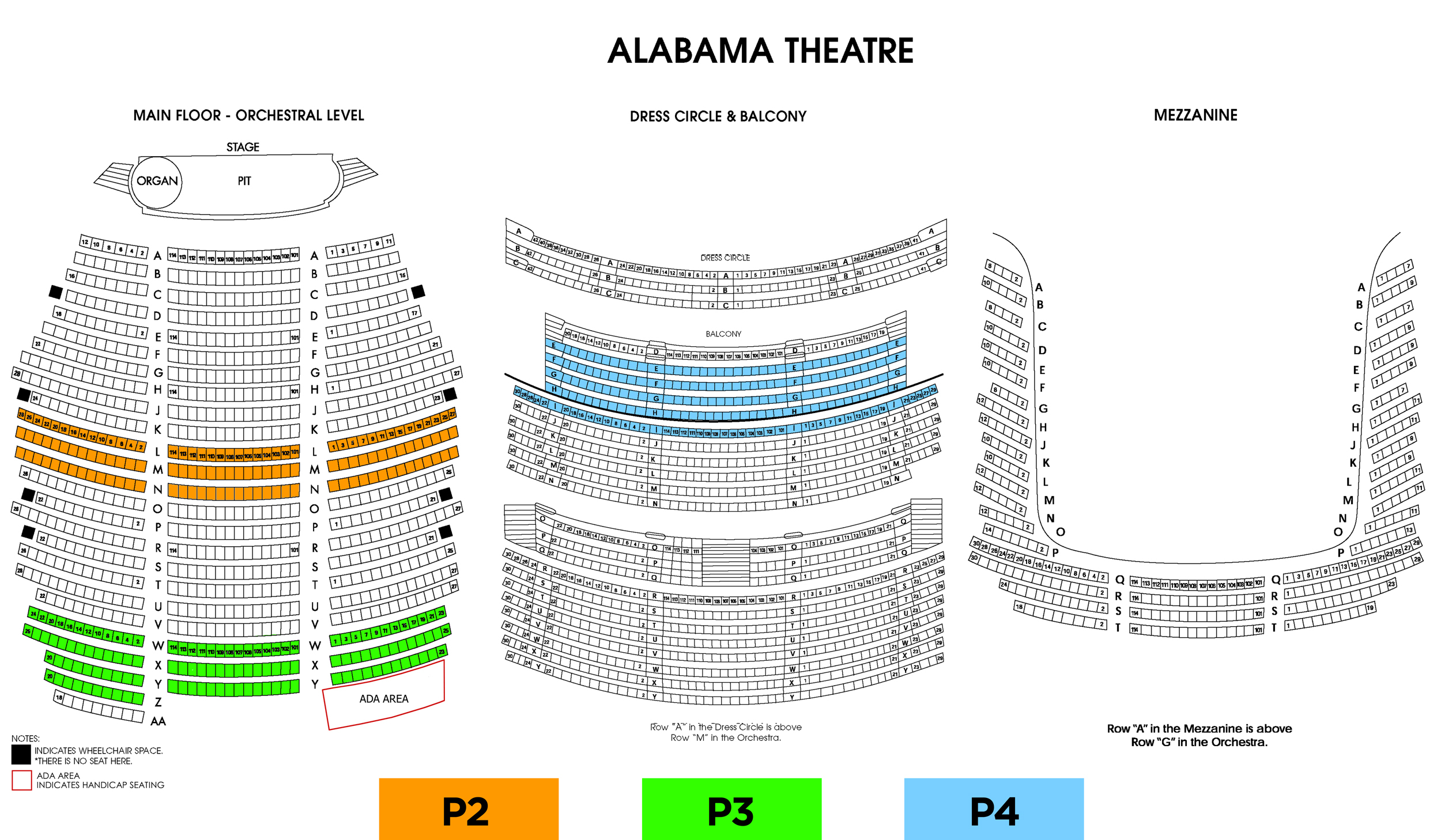 Seating Charts shopkins seating alabama theatre tickets