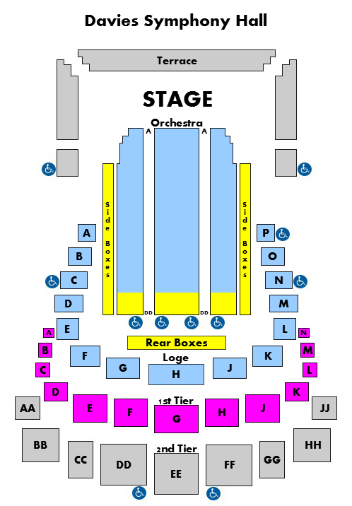 Davies symphony hall san francisco tickets schedule seating