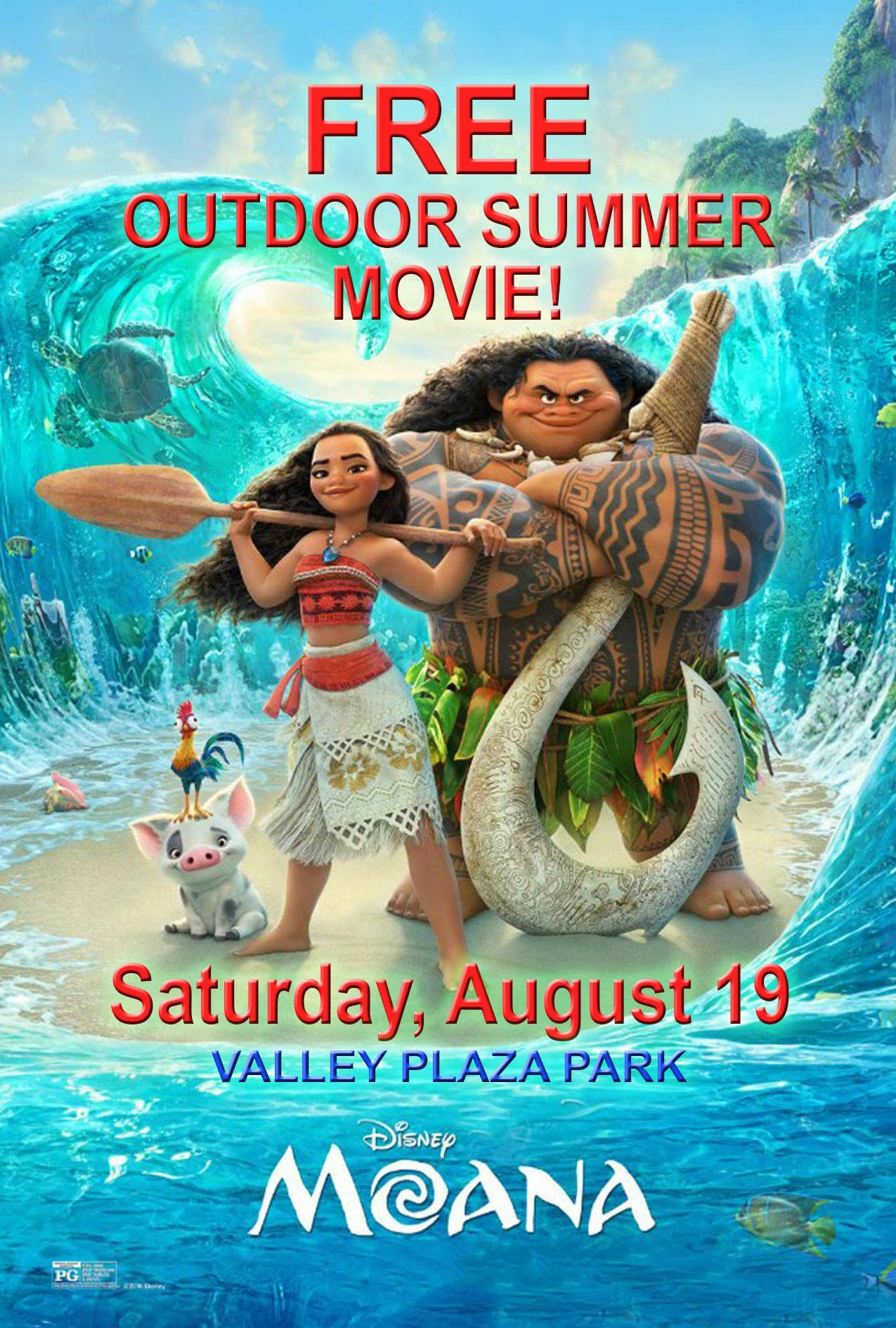 moana free outdoor summer movie los angeles tickets n a at 6599