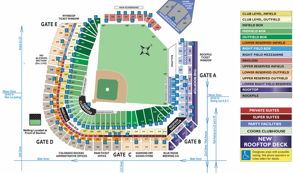 Coors field denver tickets schedule seating charts goldstar