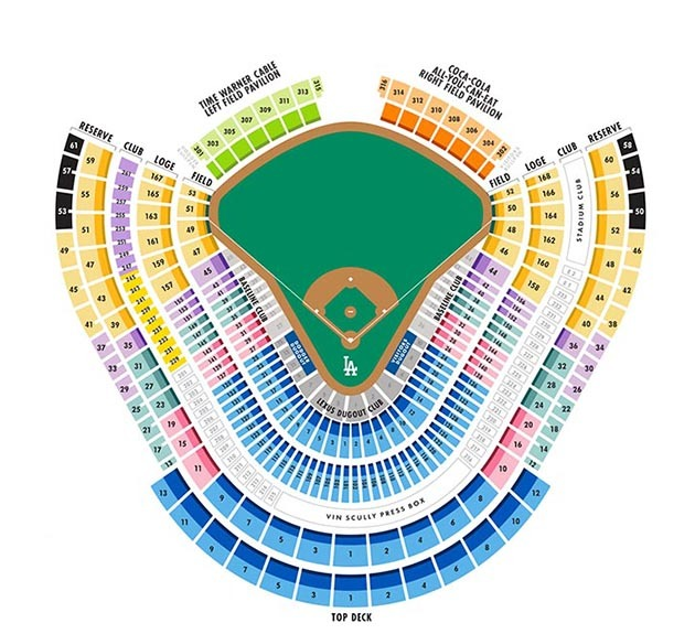Dodger stadium los angeles tickets schedule seating charts