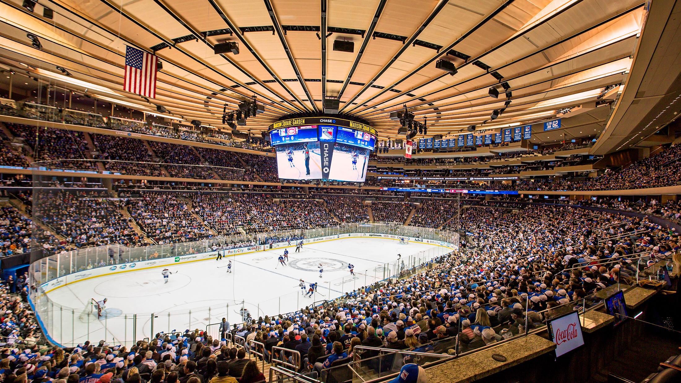 New York Rangers Preseason Hockey. Madison Square GardenNew ...