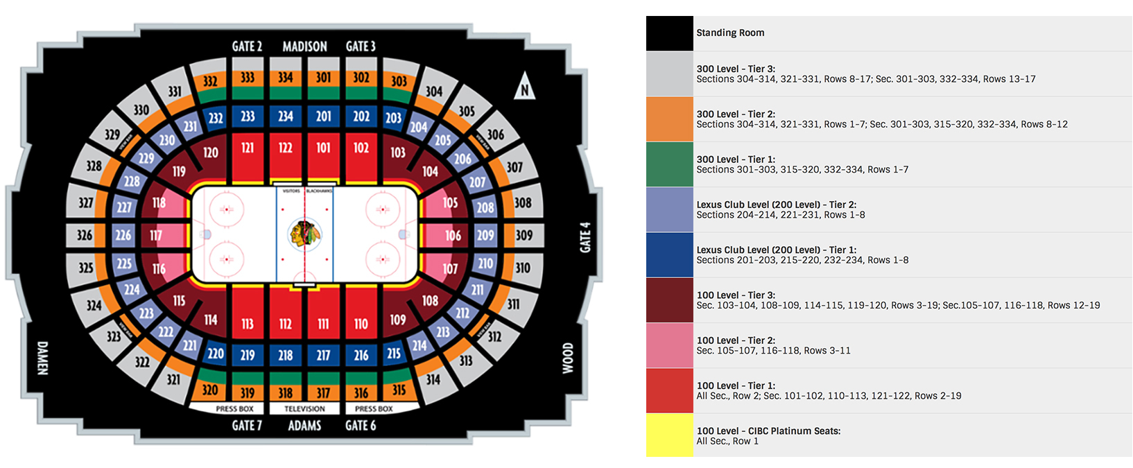 United center chicago tickets schedule seating charts goldstar