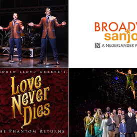 "3-Show Package: ""Love Never Dies, Finding Neverland"" & ""Jersey Boys"