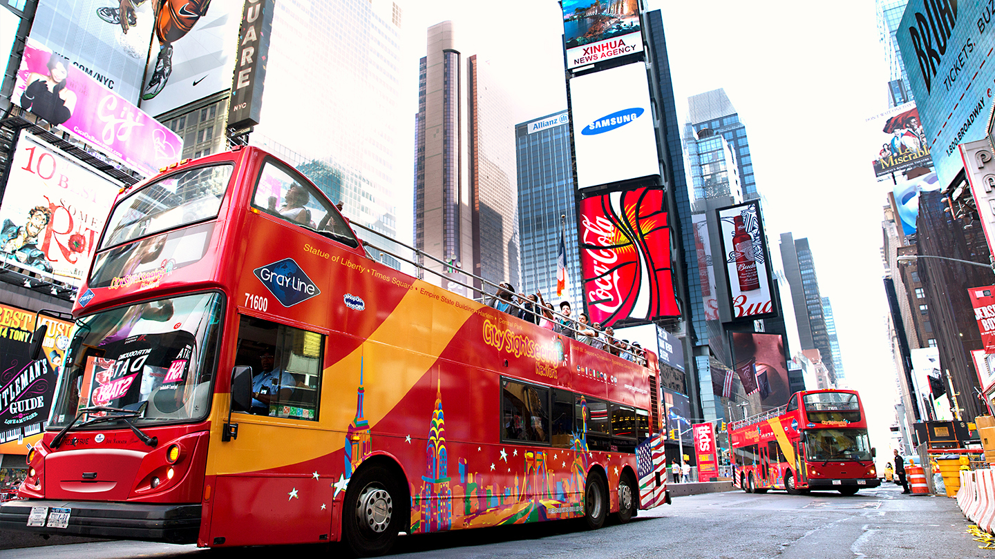 See the Sights in Manhattan on a Double Decker Bus