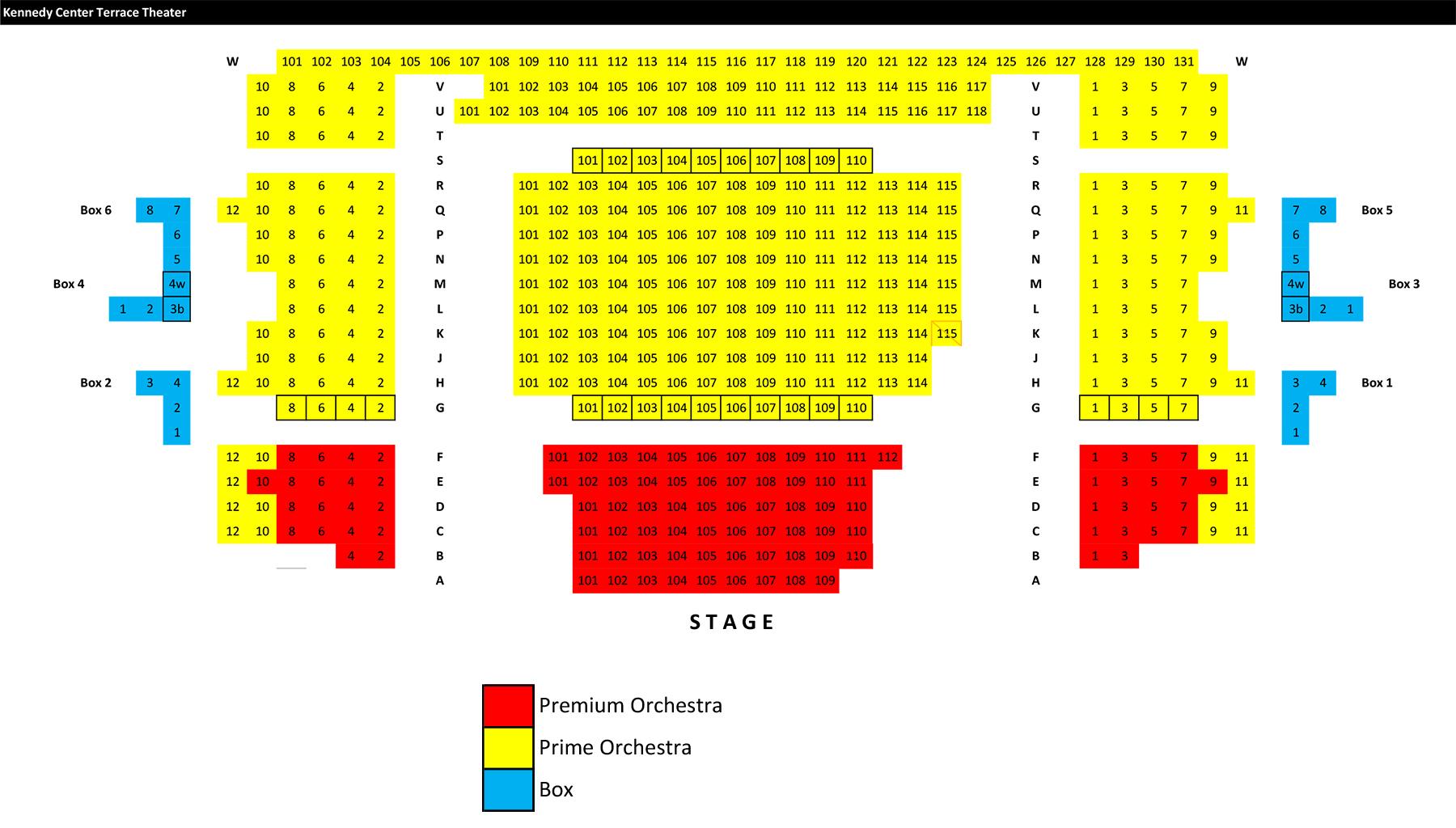 The kennedy center terrace theater washington dc tickets