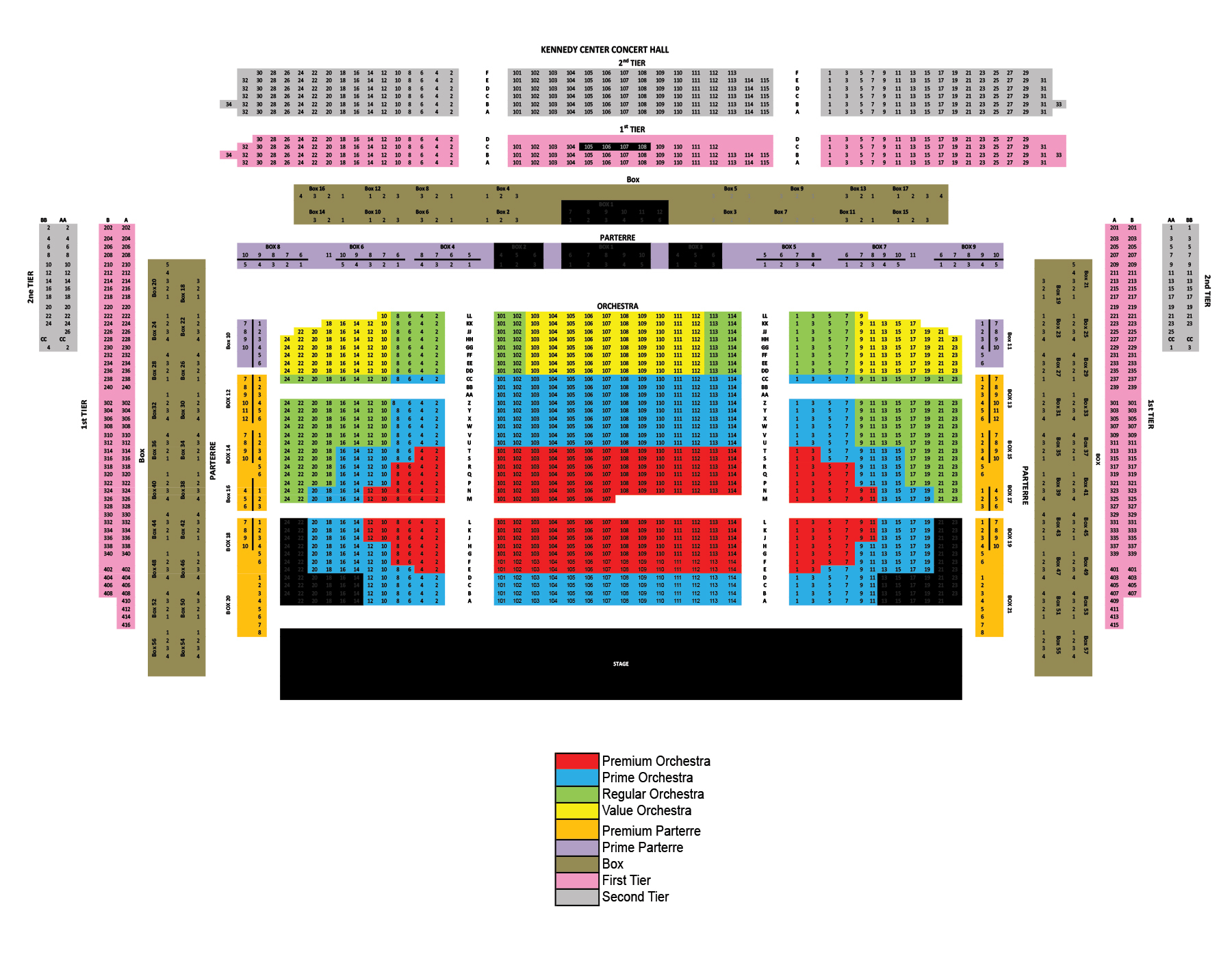The kennedy center concert hall washington dc tickets schedule