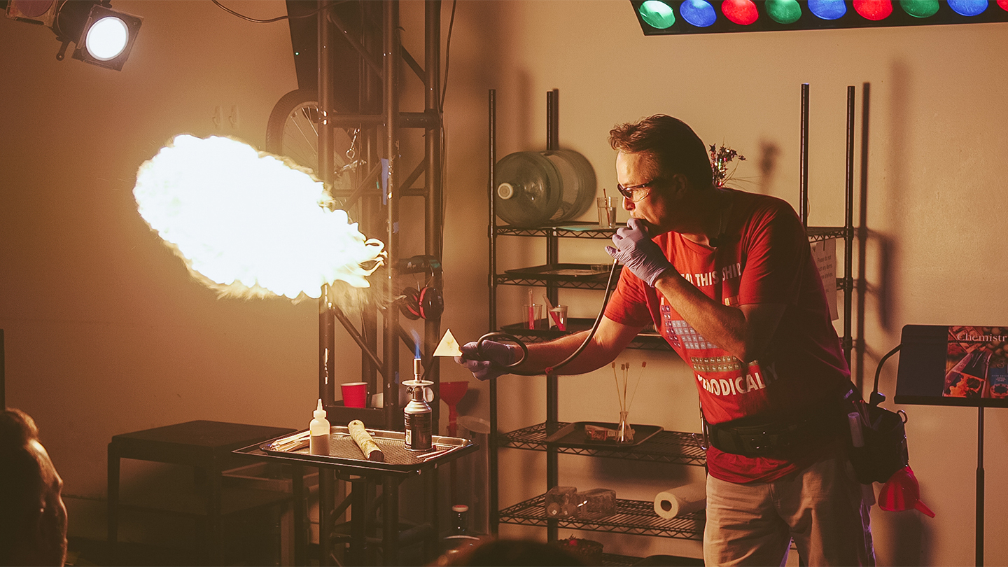 """That Chemistry Show"" Turns Science On Its Ear"