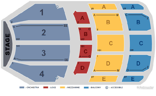 Ohio theatre columbus oh tickets schedule seating charts goldstar