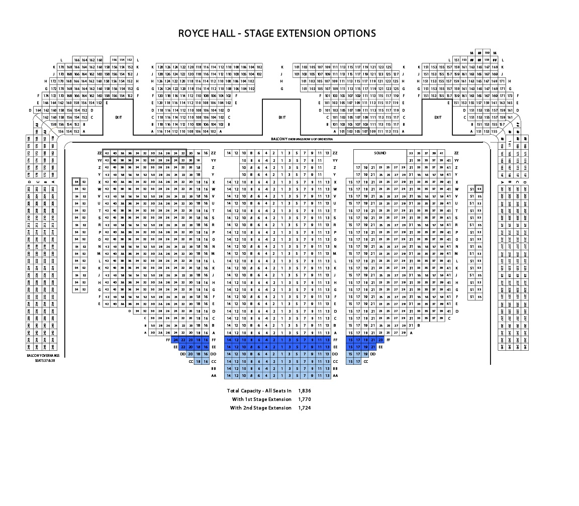 Royce hall seating chart people davidjoel co