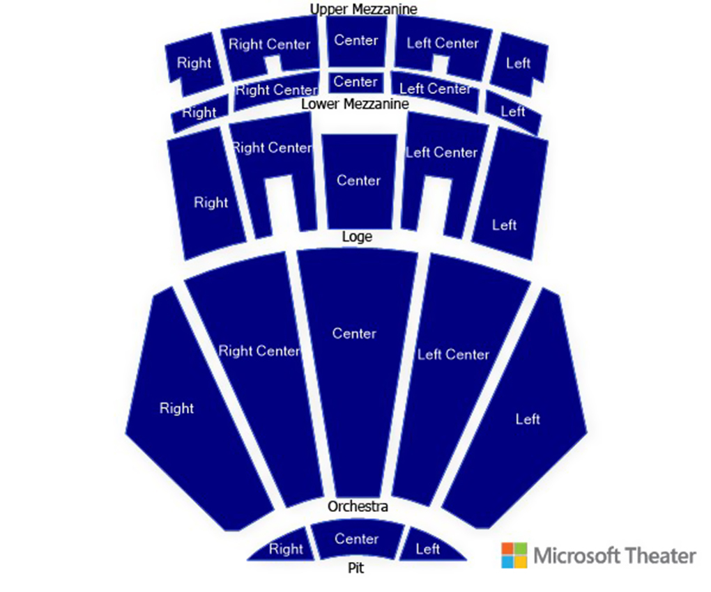 microsoft theater los angeles ca tickets schedule seating