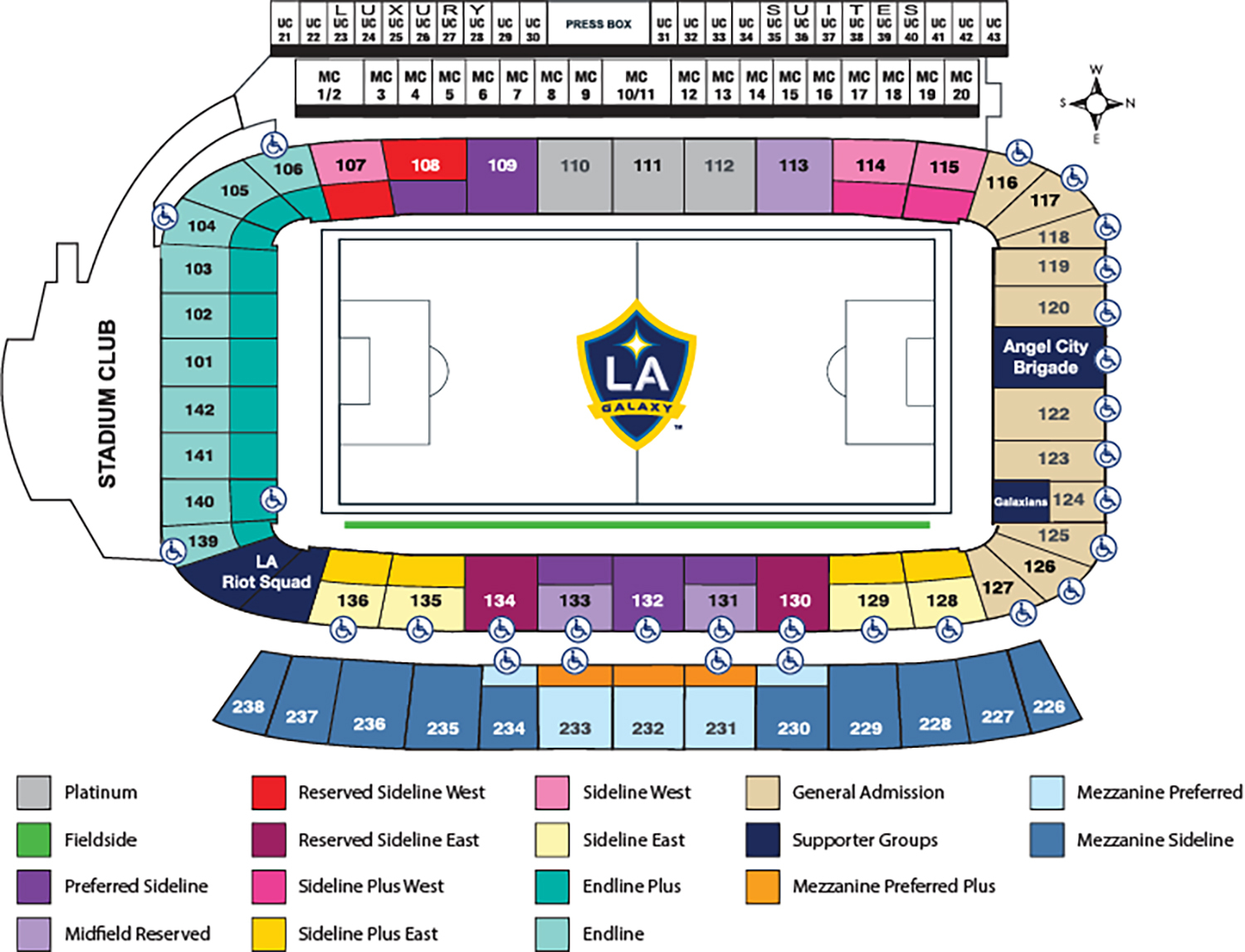 Stubhub center los angeles tickets schedule seating charts