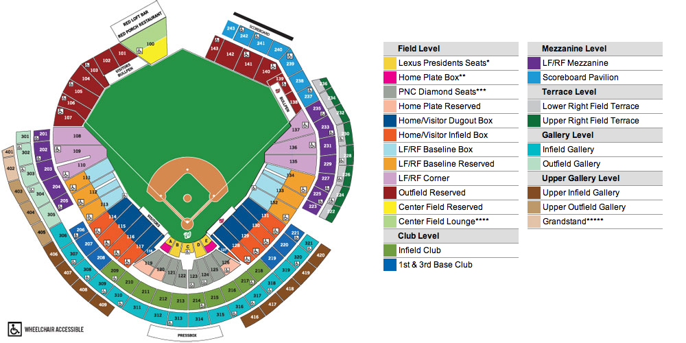 Nationals park washington dc tickets schedule seating charts
