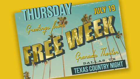Granada Theater Free Week: Texas Country Night
