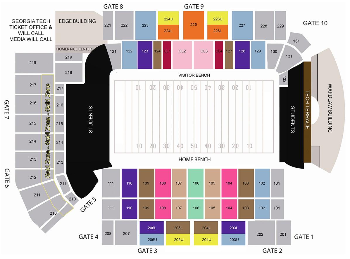Bobby dodd stadium atlanta tickets schedule seating charts