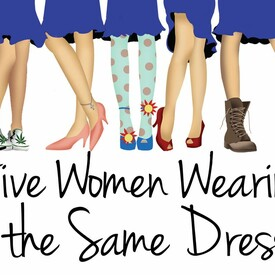 Five Women Wearing the Same Dress