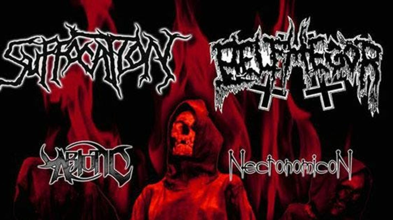 Suffocation, Belphegor, Abiotic & Necronomicon