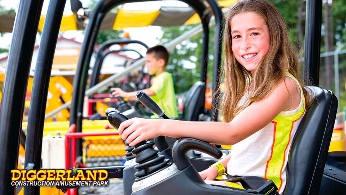 Diggerland USA: Construction Adventure Park + Water Park Expansion Opening in 2020