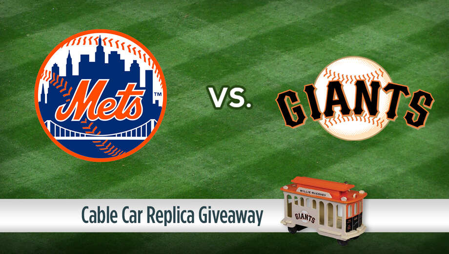 1552470827 new york mets vs. san francisco giants  cable car replica giveaway tickets