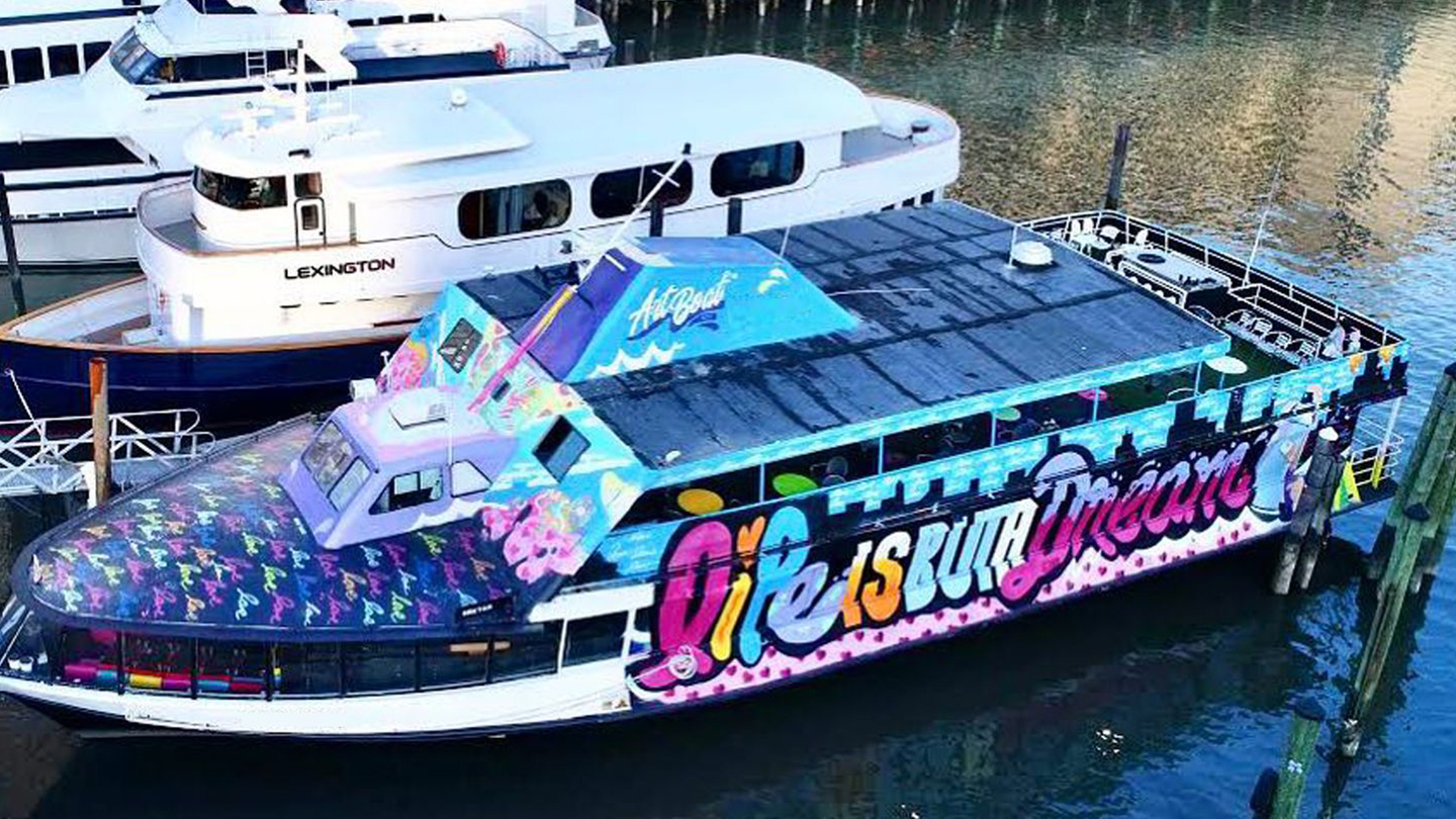NYC Floating Street Art Yacht Party Cruise