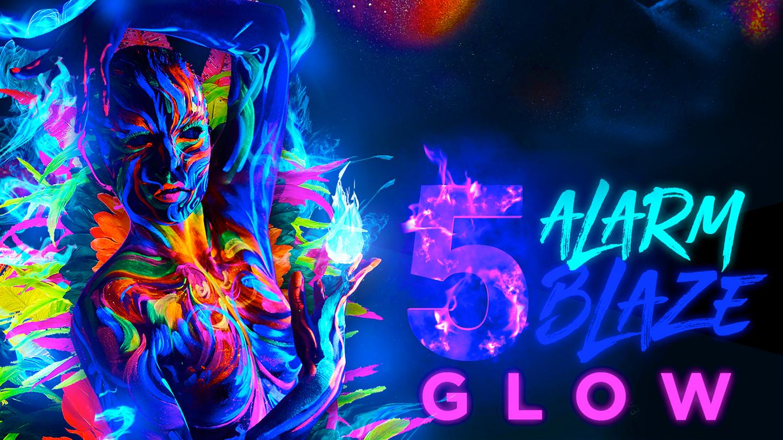 """""""GLOW"""": 5 Alarm Blaze Caribbean Rave"""