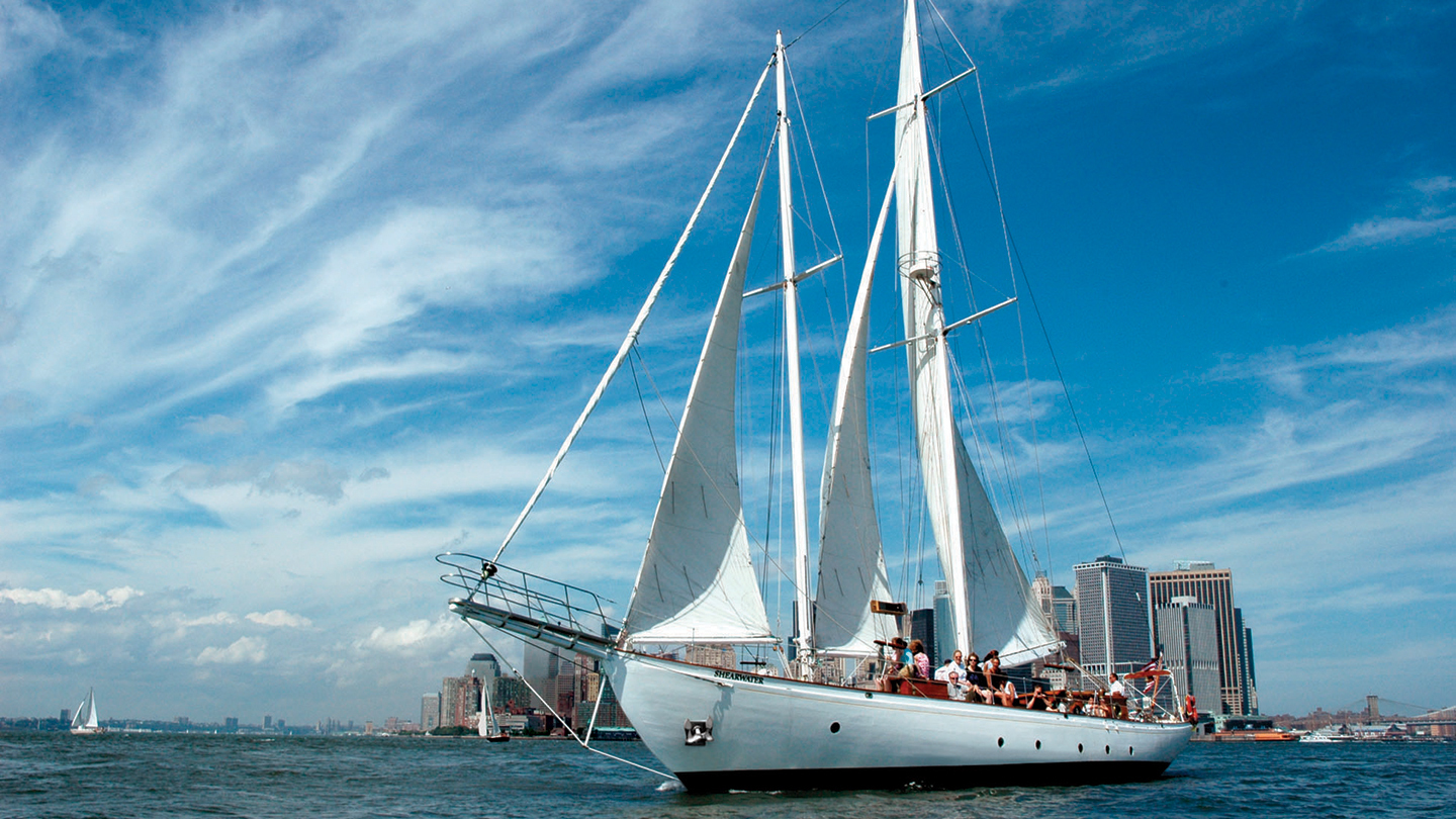 Daytime Statue Sail Aboard the Shearwater Classic Schooner